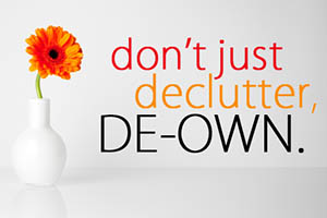 Downsizing and decluttering